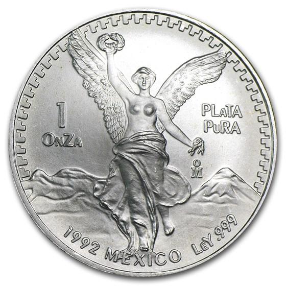 1992 Mexico 1 oz Silver Libertad BU