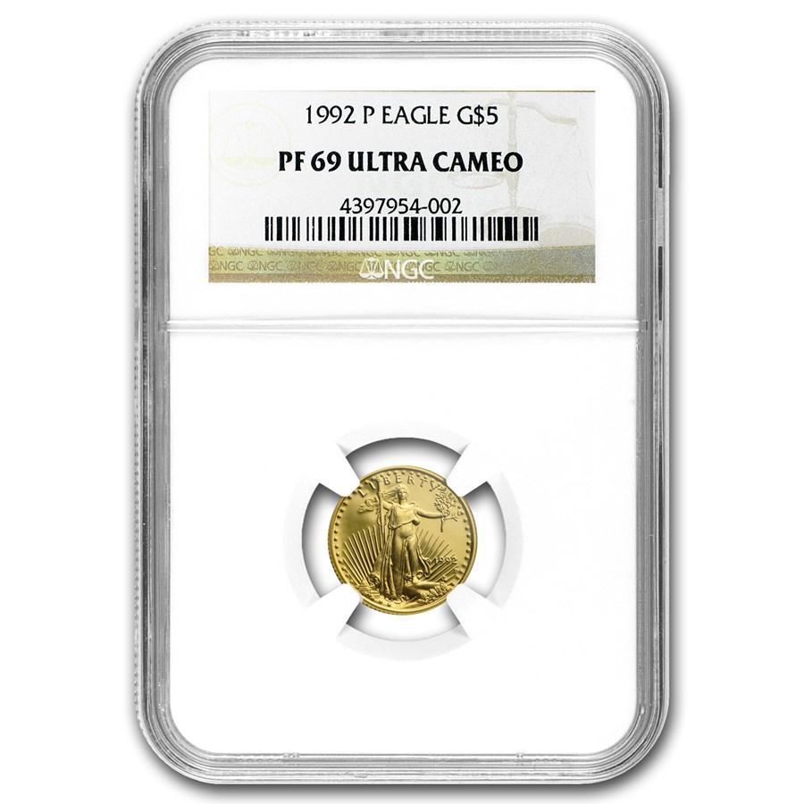 1992-P 1/10 oz Proof American Gold Eagle PF-69 UCAM NGC