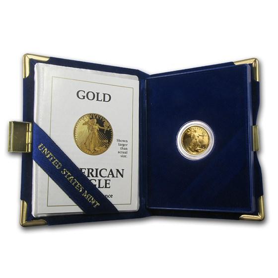 1992-P 1/10 oz Proof American Gold Eagle (w/Box & COA)