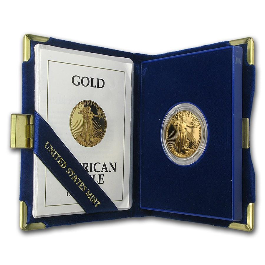 1992-P 1/2 oz Proof American Gold Eagle (w/Box & COA)