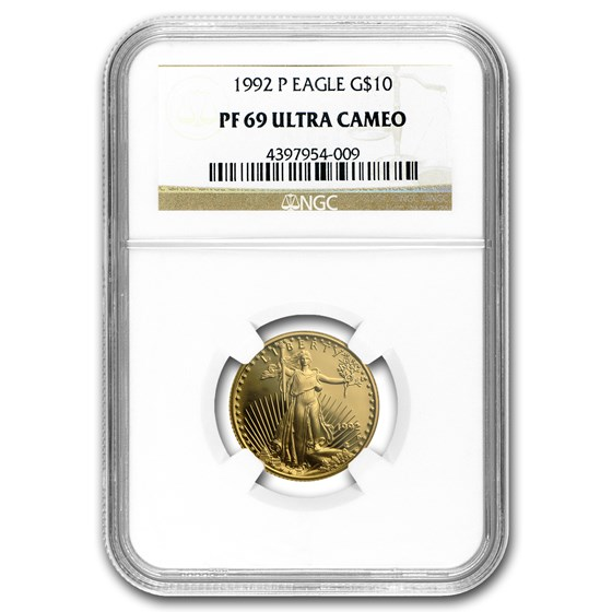 1992-P 1/4 oz Proof American Gold Eagle PF-69 UCAM NGC