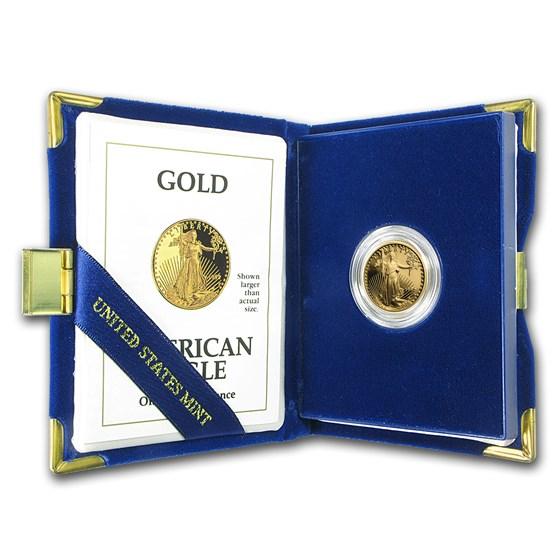1992-P 1/4 oz Proof American Gold Eagle (w/Box & COA)