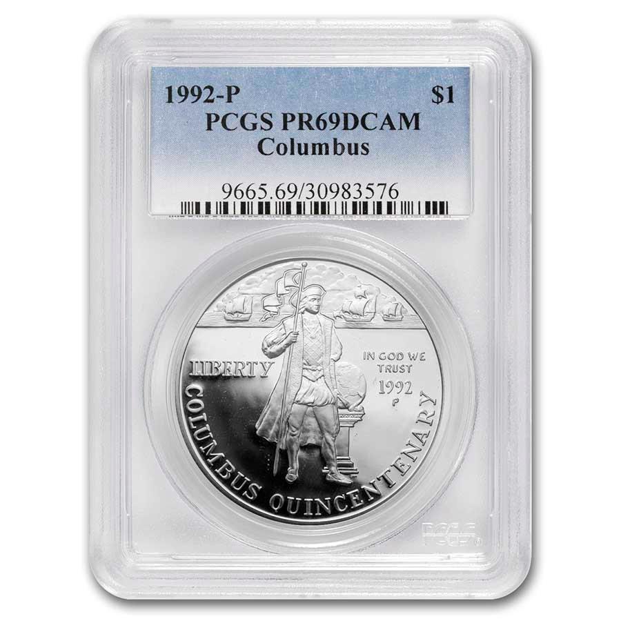 1992-P Columbus Quincentenary $1 Silver Commem PR-69 PCGS