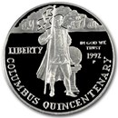 1992-P Columbus Quincentenary $1 Silver Commem Prf (Capsule Only)