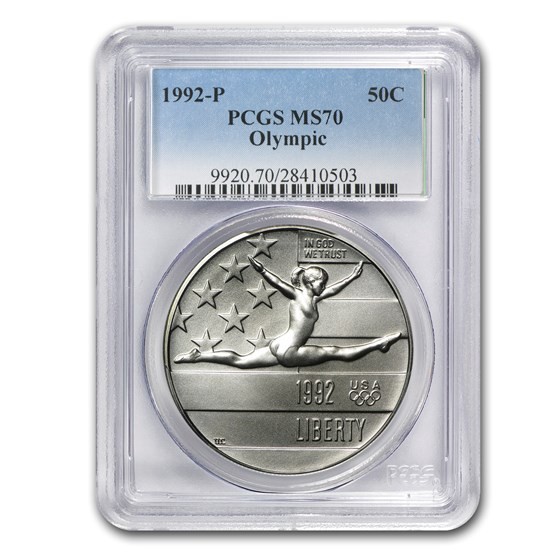 1992-P Olympic 1/2 Dollar Clad Commem MS-70 PCGS