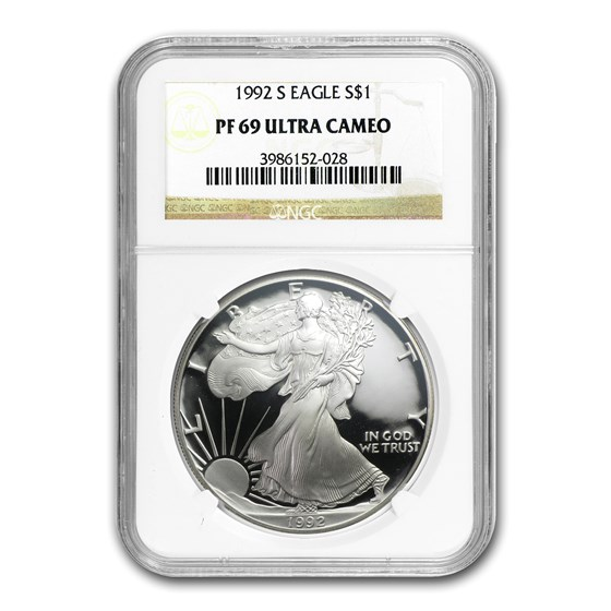 1992-S Proof American Silver Eagle PF-69 NGC