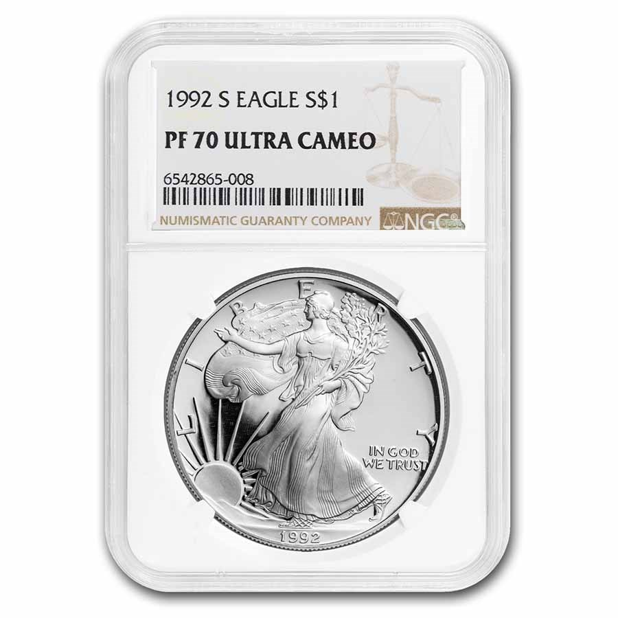 1992-S Proof American Silver Eagle PF-70 NGC