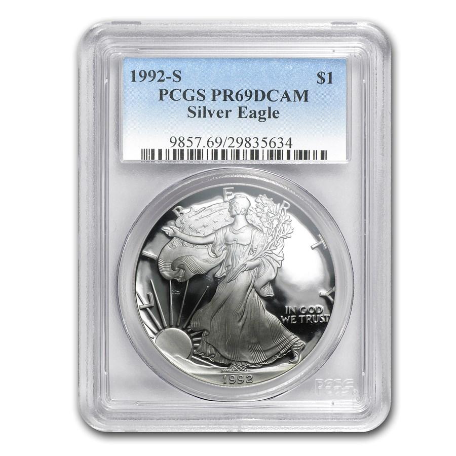 1992-S Proof American Silver Eagle PR-69 PCGS