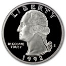 1992-S Silver Washington Quarter Gem Proof