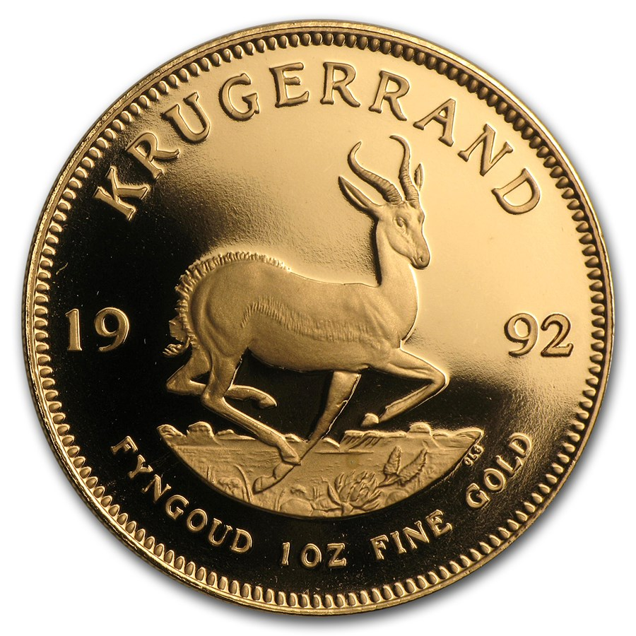 1992 South Africa 1 oz Gold Krugerrand BU