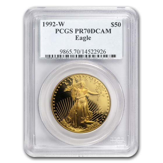 1992-W 1 oz Proof American Gold Eagle PR-70 PCGS