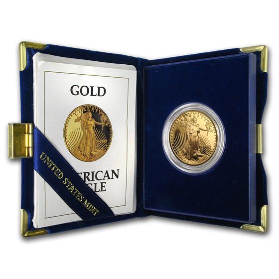 1992-W 1 oz Proof American Gold Eagle (w/Box & COA)