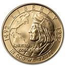 1992-W Gold $5 Commem Columbus Quincentenary BU (Capsule Only)