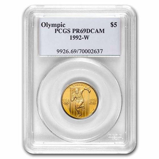 1992-W Gold $5 Commem Olympic PR-69 PCGS