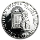 1992-W White House $1 Silver Commem Proof (Capsule only)