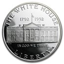 1992-W White House $1 Silver Commem Proof (w/Box & COA)