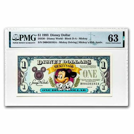 1993 $1.00 Disney World 65th Anniv. Mickey CH CU-63 PMG