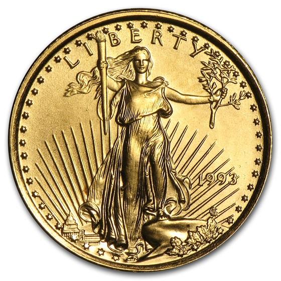 1993 1/10 oz American Gold Eagle BU