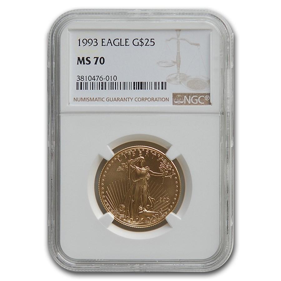 1993 1/2 oz American Gold Eagle MS-70 NGC