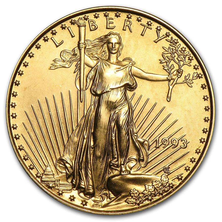 1993 1/4 oz American Gold Eagle BU