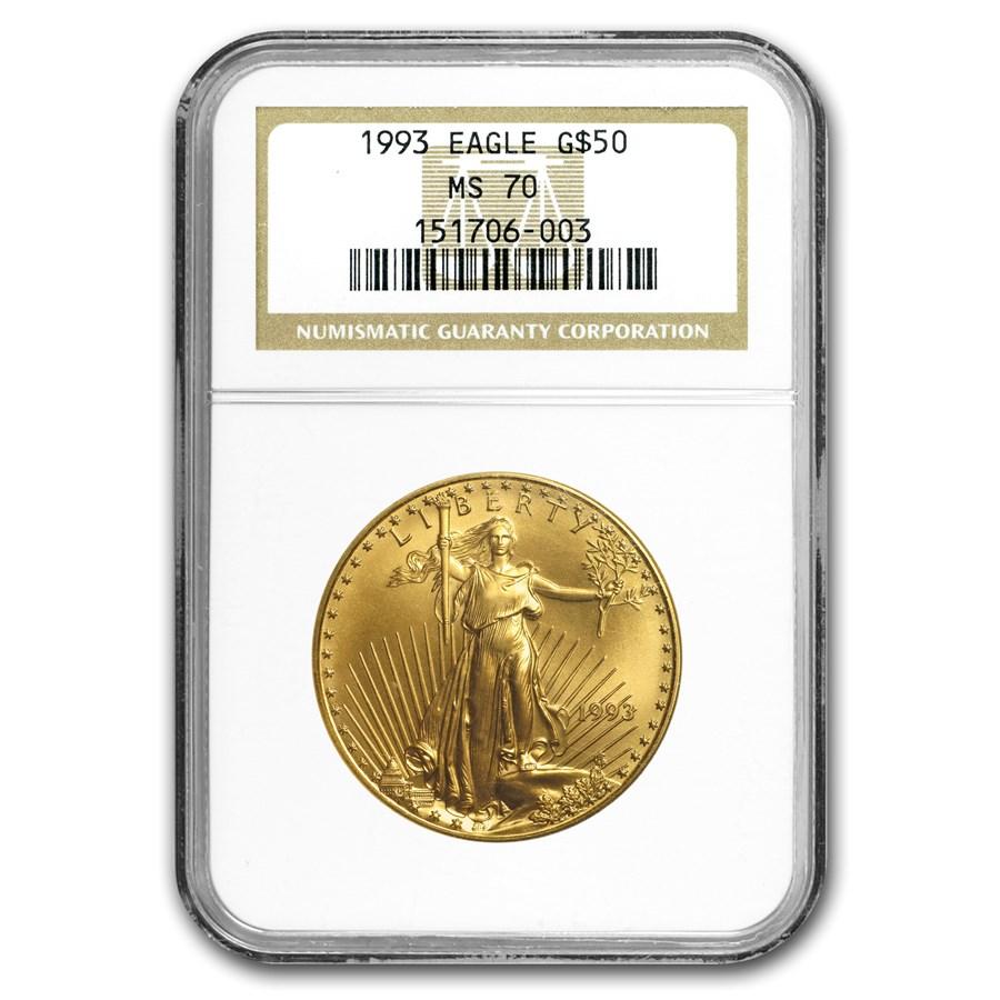 1993 1 oz American Gold Eagle MS-70 NGC