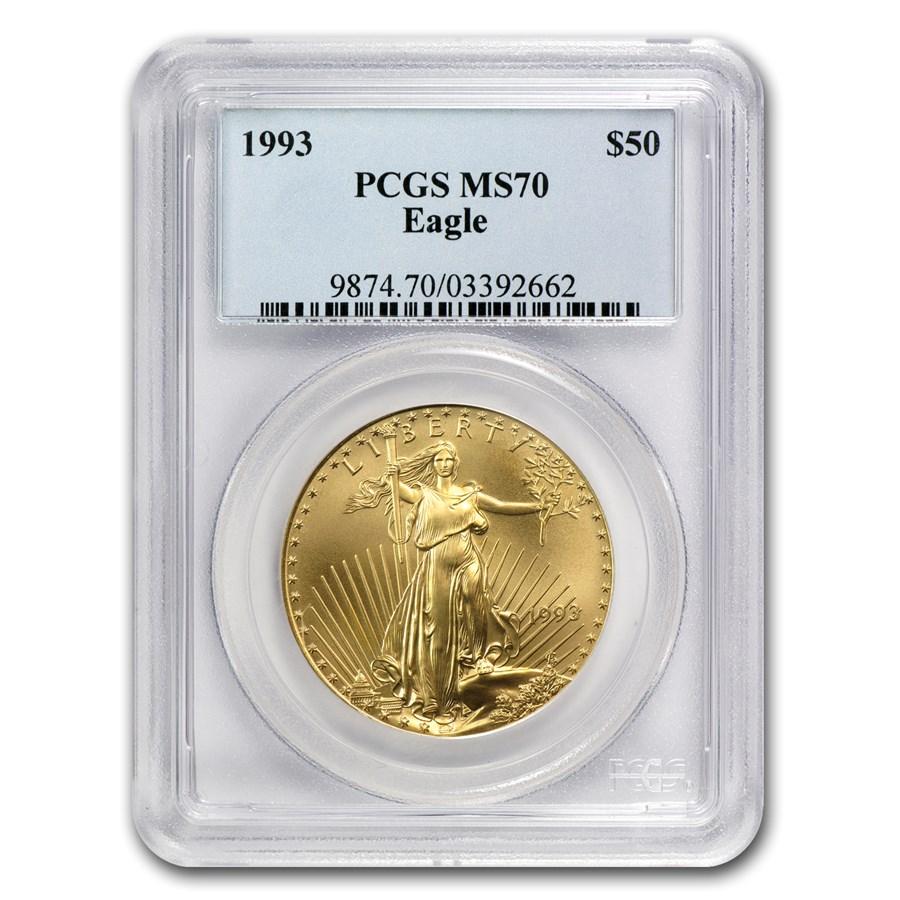 1993 1 oz American Gold Eagle MS-70 PCGS
