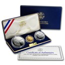 1993 3-Coin Commem Bill of Rights Proof Set (w/Box & COA)