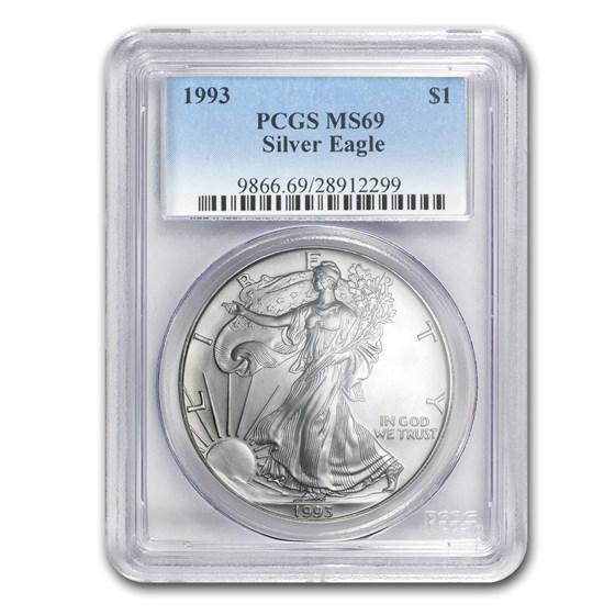 1993 American Silver Eagle MS-69 PCGS