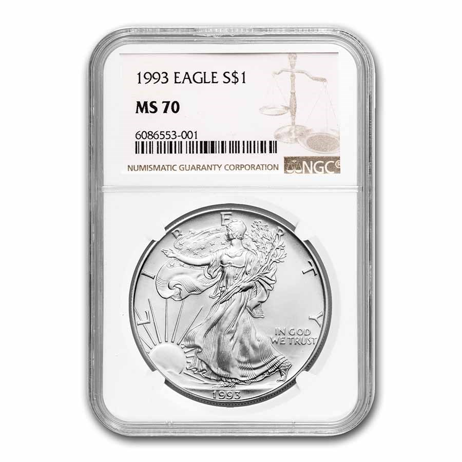 1993 American Silver Eagle MS-70 NGC