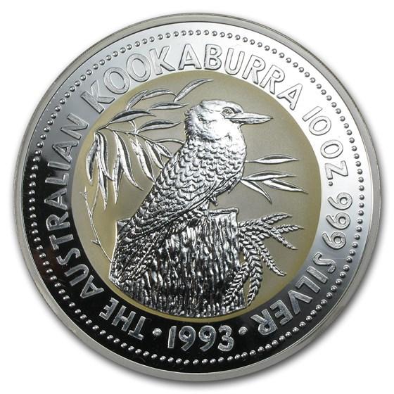 1993 Australia 10 oz Silver Kookaburra BU