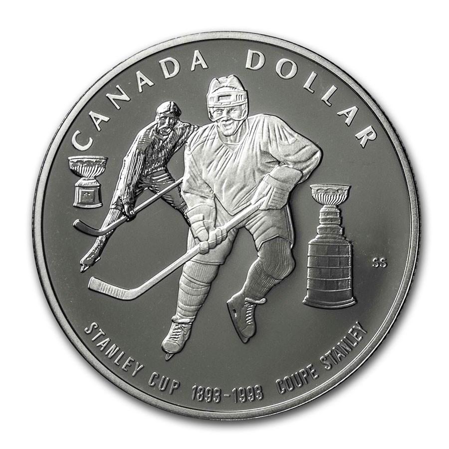 1993 Canada Silver Dollar BU (Stanley Cup)