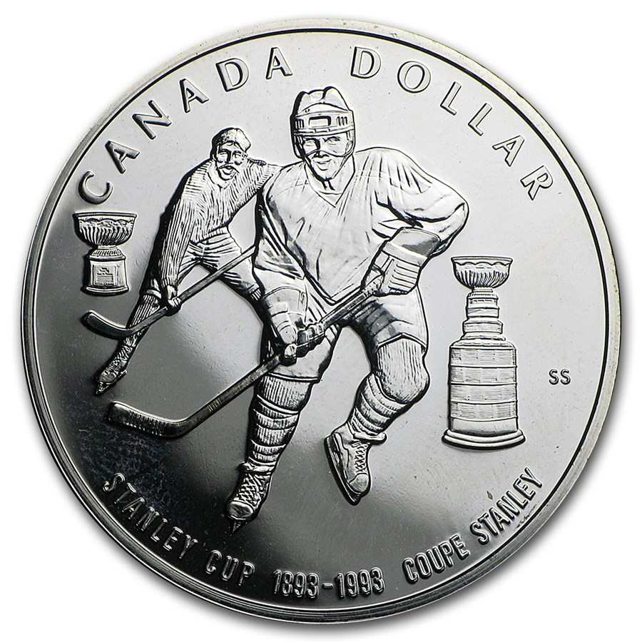 1993 Canada Silver Dollar Proof (Stanley Cup)