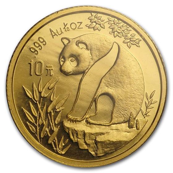 1993 China 1/10 oz Gold Panda Small Date BU (Sealed)