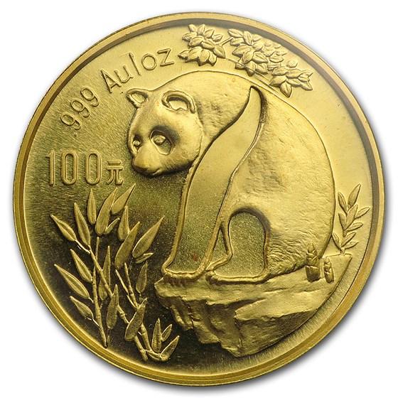 1993 China 1 oz Gold Panda Large Date BU (Sealed)