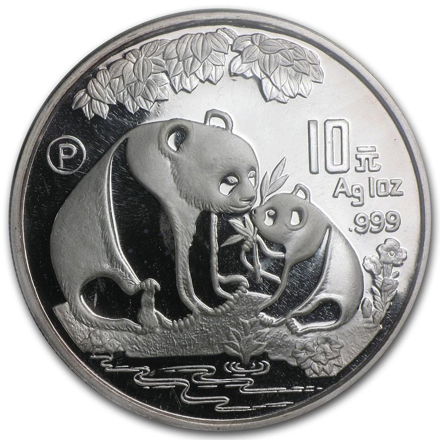1993 China 1 oz Silver Panda Proof (Sealed, w/COA, No Box)
