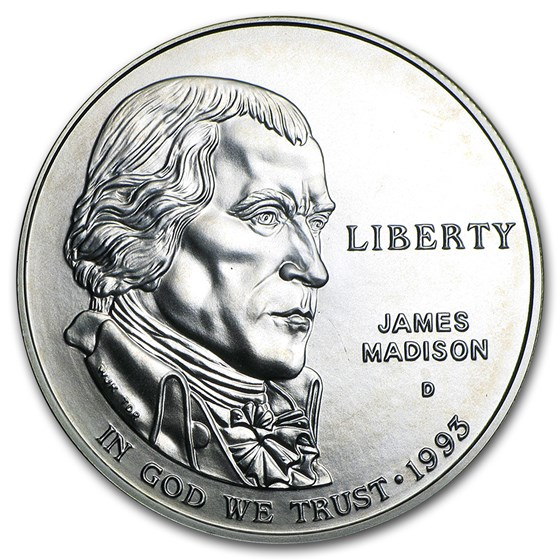 1993-D Bill of Rights $1 Silver Commem BU (Capsule Only)