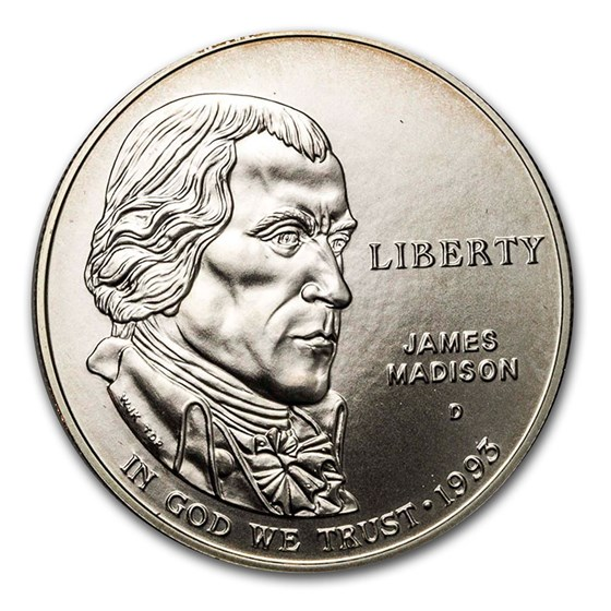 1993-D Bill of Rights $1 Silver Commem BU (w/Box & COA)