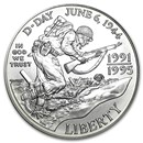 1993-D World War II $1 Silver Commem BU (Capsule only)