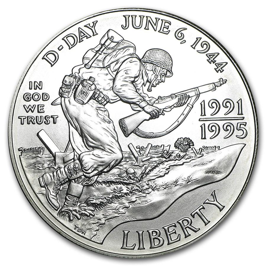 1993-D World War II $1 Silver Commem BU (Capsule only)