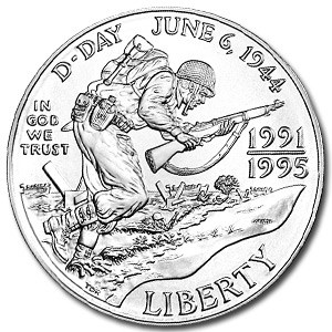 1993-D World War II $1 Silver Commem BU (w/Box & COA)
