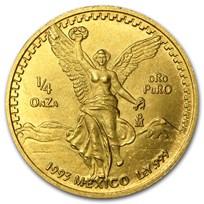 1993 Mexico 1/4 oz Gold Libertad BU