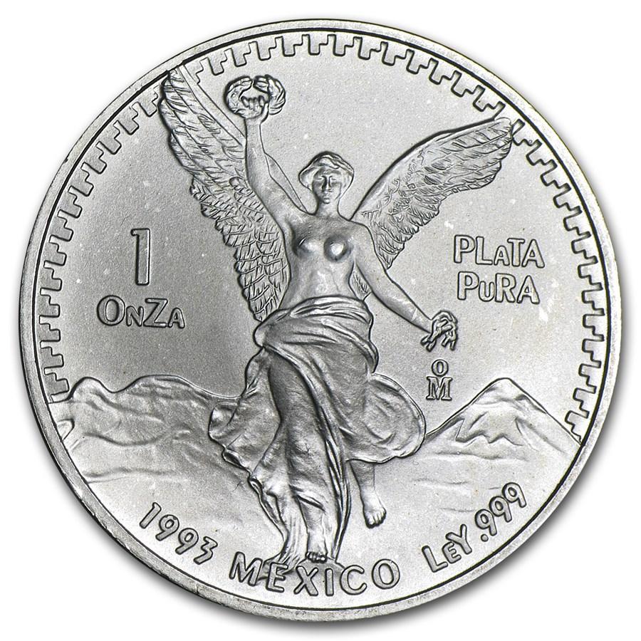 1993 Mexico 1 oz Silver Libertad BU