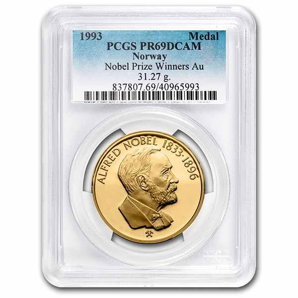 1993 Norway Gold Medal Noble Prize Winners PR-69 DCAM PCGS