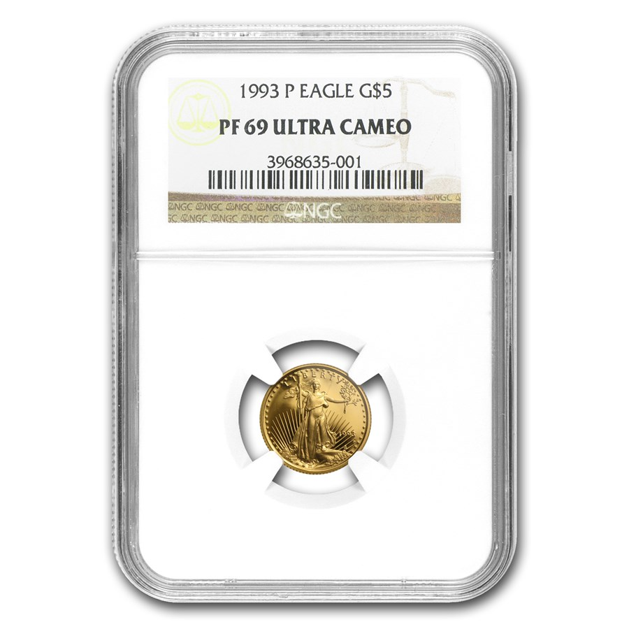 1993-P 1/10 oz Proof American Gold Eagle PF-69 UCAM NGC