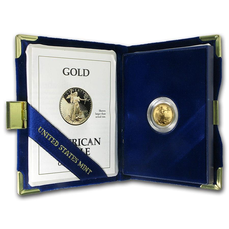 1993-P 1/10 oz Proof American Gold Eagle (w/Box & COA)