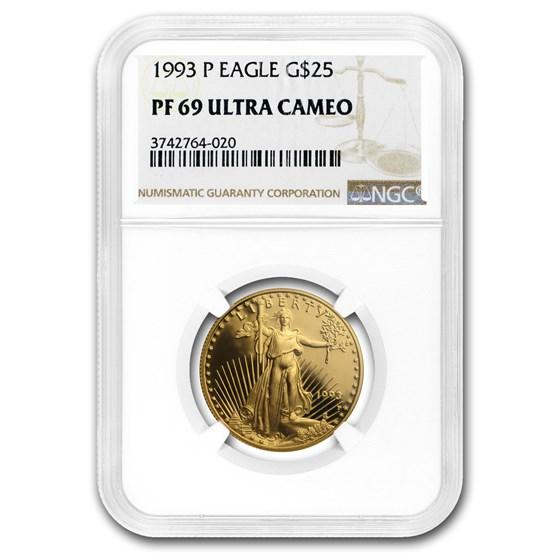 1993-P 1/2 oz Proof American Gold Eagle PF-69 UCAM NGC
