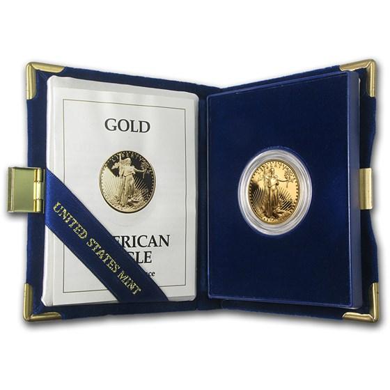 1993-P 1/2 oz Proof American Gold Eagle (w/Box & COA)