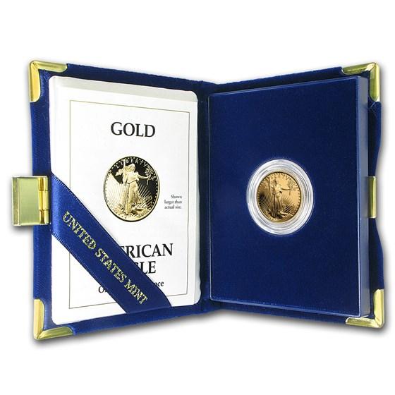 1993-P 1/4 oz Proof American Gold Eagle (w/Box & COA)