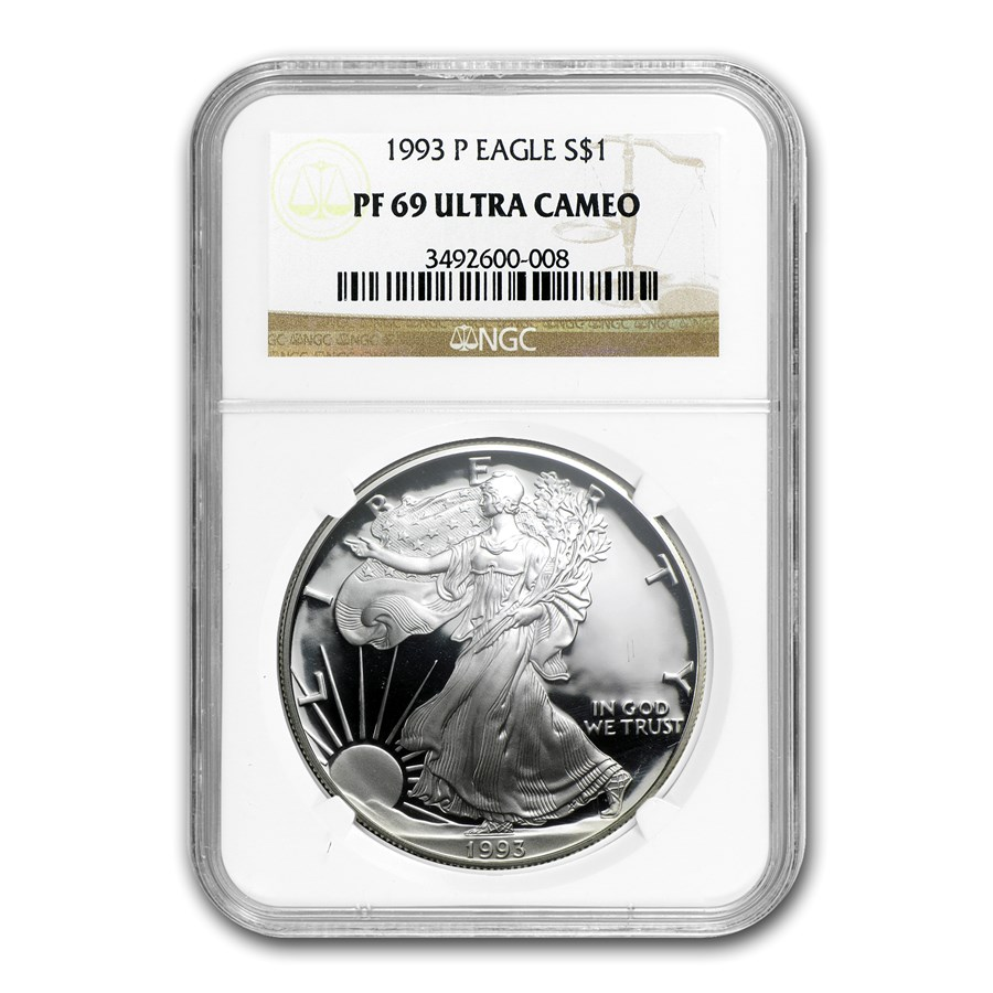 1993-P Proof American Silver Eagle PF-69 NGC