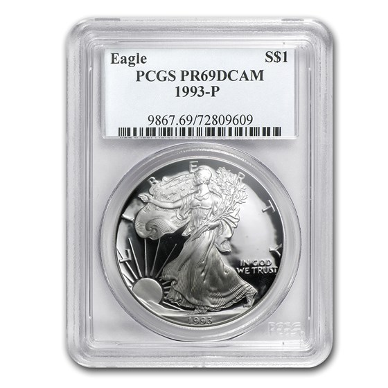 1993-P Proof American Silver Eagle PR-69 PCGS